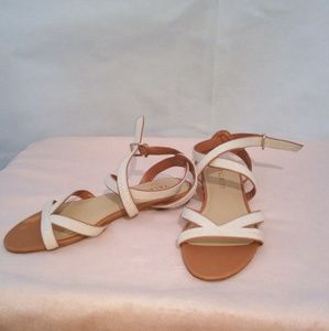 Talbots Brown And White Sandals
